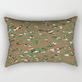Camouflage: Woodland I Rectangular Pillow