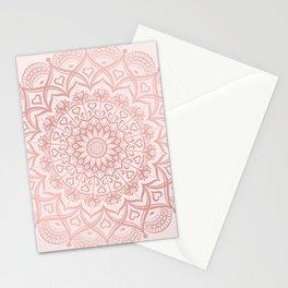 Blush Rose Pink Mandala Stationery Cards
