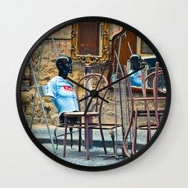Napoli fan tee-shirt  Wall Clock