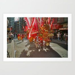Chinese New Year Parade Art Print