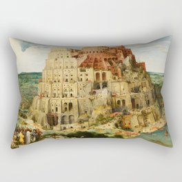 "Pieter Bruegel (also Brueghel or Breughel) the Elder ""The Tower of Babel (Vienna)"" Rectangular Pillow"