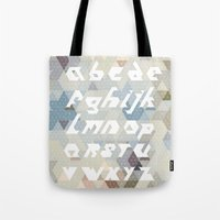 alphabet Tote Bags featuring Alphabet by Lin Oosterhoff