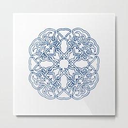 Chinese knot Pattern Metal Print