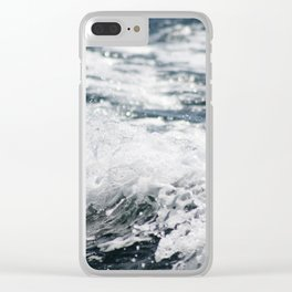 Crashing Ocean Wave Clear iPhone Case