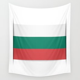 Flag of Bulgaria. The slit in the paper with shadows. Wall Tapestry