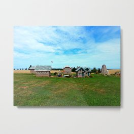 Hannah's Bottle Village Metal Print