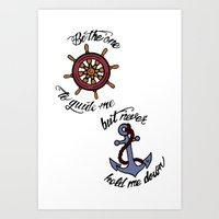 larry stylinson Art Prints featuring Helm and Anchor. (Larry Stylinson) by Arabella
