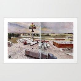 Truck Stop Art Print