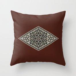 Damascus Diamond Throw Pillow