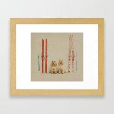 Skiing is believing Framed Art Print