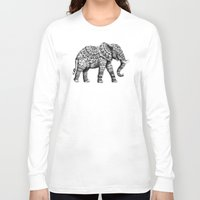 bioworkz Long Sleeve T-shirts featuring Ornate Elephant 3.0 by BIOWORKZ