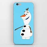 olaf iPhone & iPod Skins featuring Olaf by Dewdroplet