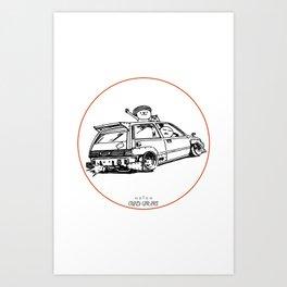 Crazy Car Art 0036 Art Print