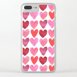 Heart Watercolor Clear iPhone Case