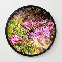 Volcanic Petals Wall Clock