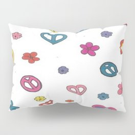 Peace Love Flowers Pillow Sham