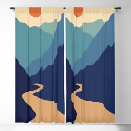 Mountains & River II Blackout Curtain