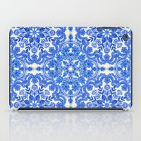china iPad Cases featuring Cobalt Blue & China White Folk Art Pattern by micklyn