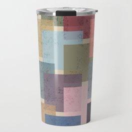 Vintage Colorful Squares Travel Mug