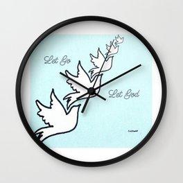 Five Doves Wall Clock
