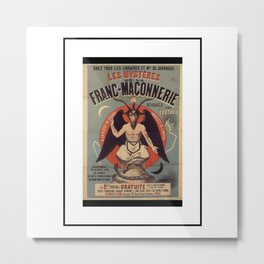 French Baphomet Metal Print