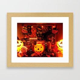 A Very Vintage Halloween Framed Art Print