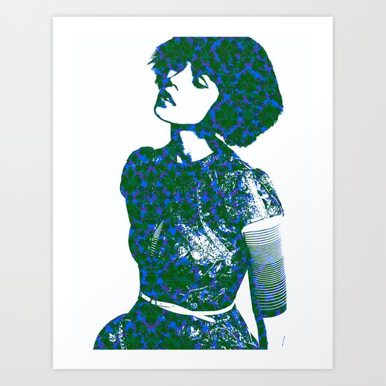 Green with Envy: Fashion Art Print