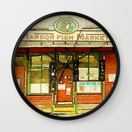 Harbor Fish Market Wall Clock