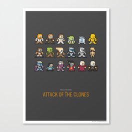 Mega Star Wars: Episode II - Attack of the Clones Canvas Print