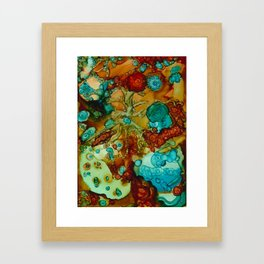 flora beginnings Abstract Framed Art Print