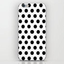 Polkadots (Black & White Pattern) iPhone Skin