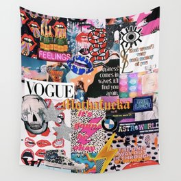 collage magazine Wall Tapestry