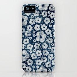 Mood indigo ditsy floral iPhone Case