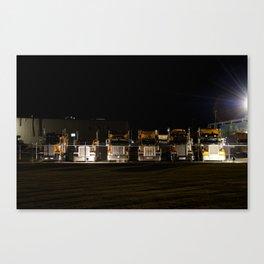 Trucks in a row Canvas Print