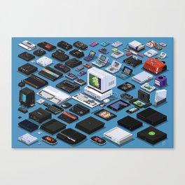 A Pixel Retrospective Canvas Print