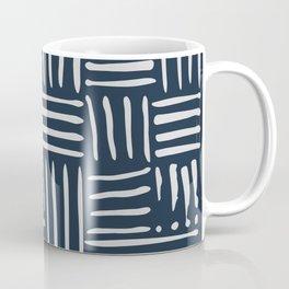 Weave in Blue Coffee Mug