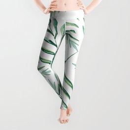 Green Leaves Leggings