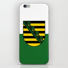 flag of Sachsen (historic state) iPhone Skin