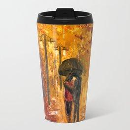 Les amoureux sous la pluie Travel Mug