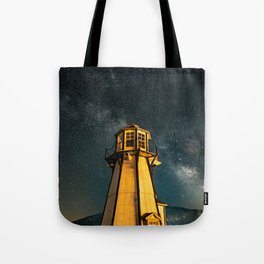 Mountain Light House Two Tote Bag