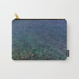 Colorful Transparent Blue and Aqua Sea On Crete Carry-All Pouch
