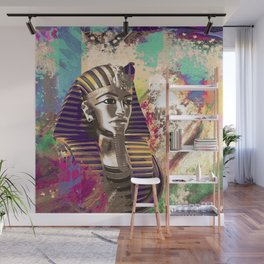King Tut  Mask Abstract composition Wall Mural