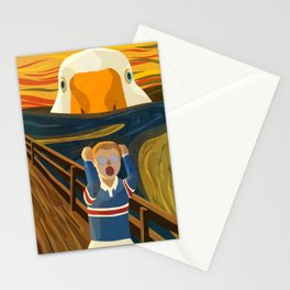 The Honk - Untitled Goose Game Famous The Scream Canvas Painting Parody Meme Thematic Gift Stationery Cards