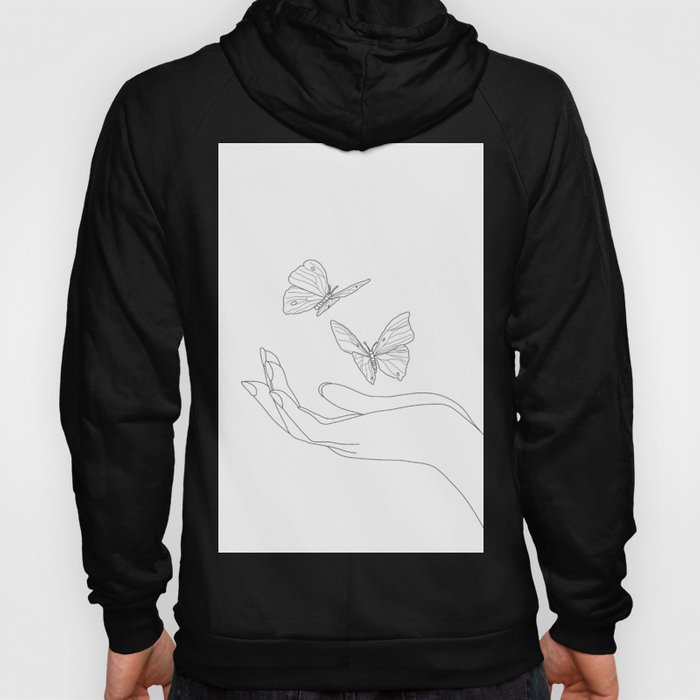 Butterflies on the Palm of the Hand Hoody