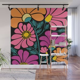 Wildflower Party Wall Mural