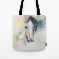 Horse Watercolor Painting Tote Bag