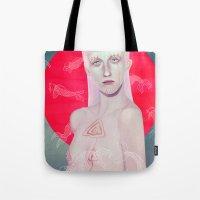 koi Tote Bags featuring Koi by Josh Merrick