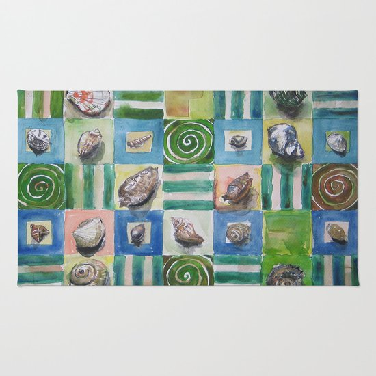 Shell and stripes Rug