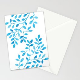 Watercolor Branches Stationery Cards