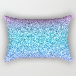 Modern colorful glitter texture print Rectangular Pillow